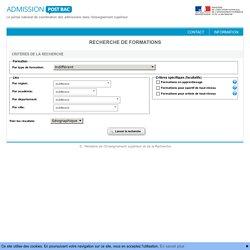 APB : Recherche de formations
