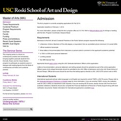 Admission - Roski School of Fine Arts