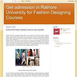 Fashion Design Course in Ahmedabad is best option for students