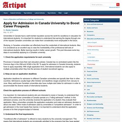 Apply for Admission in Canada University to Boost Career Prospects