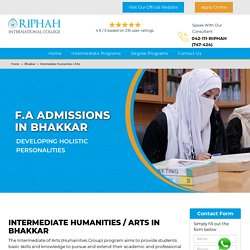 Admission Open For F.A Bhakkar