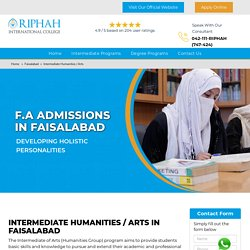 Admission Open For F.A Faisalabad