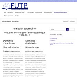 Admissions & Formalités