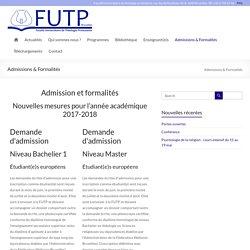Admissions & Formalités
