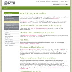 Admissions Information