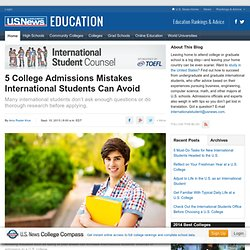 5 College Admissions Mistakes International Students Can Avoid