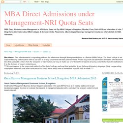 MBA Direct Admissions Under Management