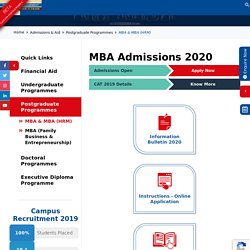Nirma MBA Admissions 2020 - Requirements and Important Dates