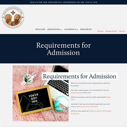 Admissions Requirements — ACTS