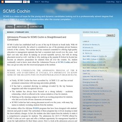 SCMS Cochin: Admissions Process for SCMS Cochin is Straightforward and Convenient MBA Colleges in India