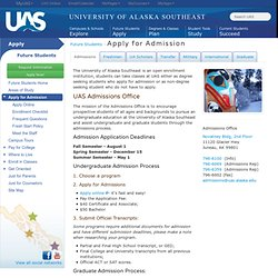 Apply for Admissions at UAS