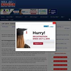 CAT 2019: Exam Date, Admit Card, Syllabus, Preparation, Books