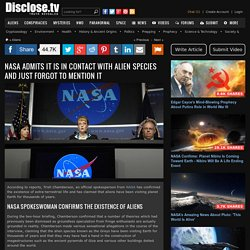NASA Admits It Is In Contact With Alien Species And Just Forgot To Mention It