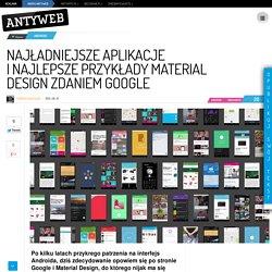 Najładniejsze aplikacje i najlepsze przykłady Material Design zdaniem Google