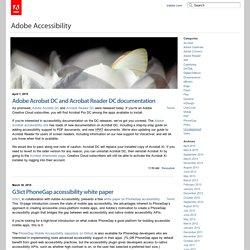 Adobe Accessibility