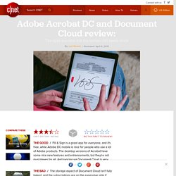 Adobe Acrobat DC and Document Cloud review