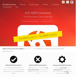 Adobe AEM Commons