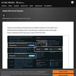 Adobe-like Arrow Headers