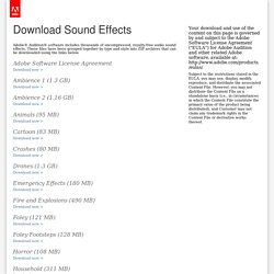 Audition Sound Effects