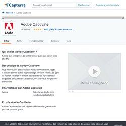 Adobe Captivate - Avis, prix, tarif et abonnement