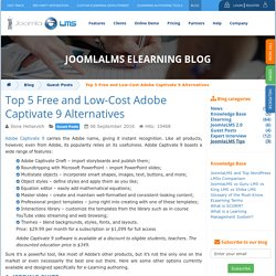 Top 5 Free and Low-Cost Adobe Captivate 9 Alternatives