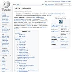 Adobe ColdFusion
