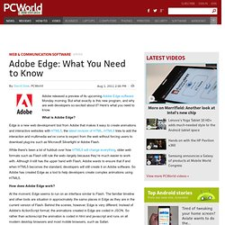 Adobe Edge: What You Need to Know