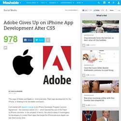 Adobe Gives Up on iPhone App Development