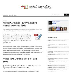 How to do everything with PDF files