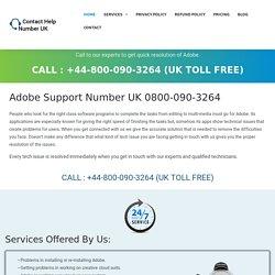 Adobe Helpline Number UK 0800-090-3264