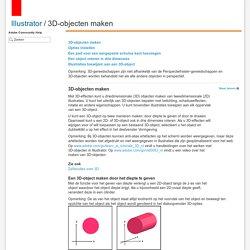 Adobe Illustrator * 3D-objecten maken