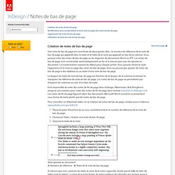 InDesign * Notes de bas de page