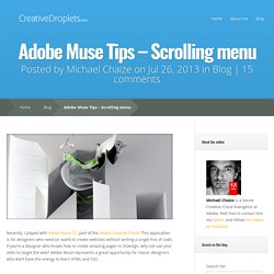 Adobe Muse Tips – Scrolling menu