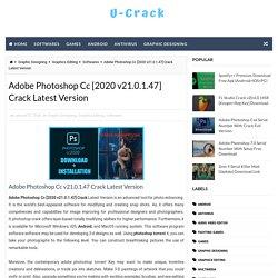 Adobe Photoshop Cc [2020 v21.0.1.47] Crack Latest Version