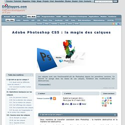 Adobe Photoshop CS5 : la magie des calques