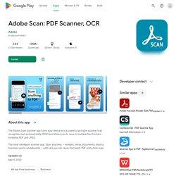 Adobe Scan: digitalizador de PDF, OCR - Aplicaciones en Google Play