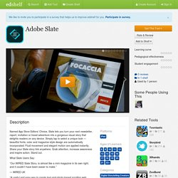 Adobe Slate Reviews
