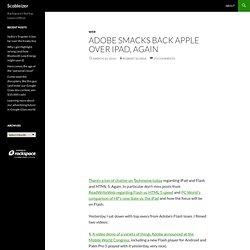 Adobe smacks back Apple over iPad, again