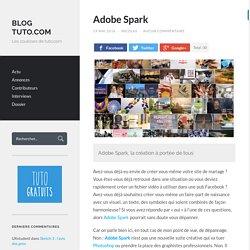 Adobe Spark - Blog Tuto.com