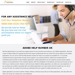 Adobe Support UK 0800-090-3228 Adobe Helpline Number UK