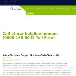 Adobe Support Number UK 0808-168-9042 Adobe Helpline Number UK