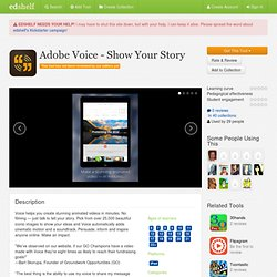Adobe Voice - Show Your Story Reviews