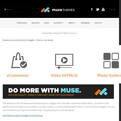 Adobe Muse Widget Directory by Muse-Themes
