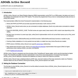 ADOdb Active Record