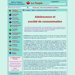 Adolescence et société de consommation