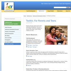 ACT for Youth - Adolescent Development Toolkit - For Parents and Teens