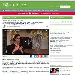 Un adolescent lance un site Web pour expliquer l'apraxie, la dysphasie et la dyspraxie