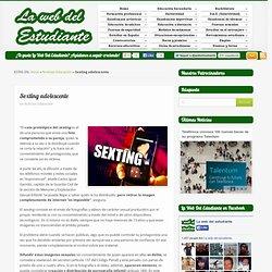 Sexting adolescentela web del estudiante