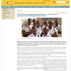 - Grossesse chez les adolescentes scolarisées en Côte d'Ivoire : le gouvernement et l'UNFPA s'attaquent au fléau