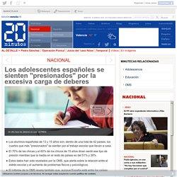 """Los adolescentes españoles se sienten """"presionados"""" por la excesiva carga de deberes"""
